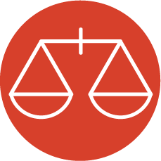 icon with scales of justice