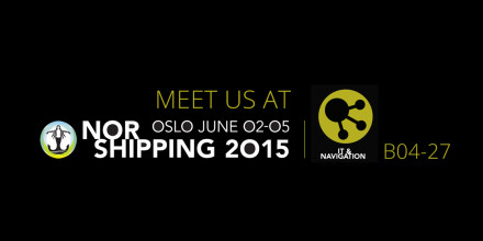 Graphics with text: Nor Shipping 2-5 June, Stand Number B04-27