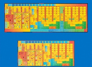 Die shrink in the transition from a 22nm to a 14nm process