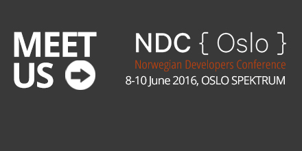 meet us at the Norwegian Devlopers Conference June 8. - 10.