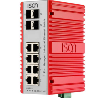 12-ports industrial ethernet switch
