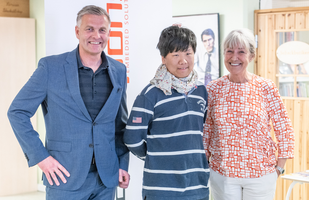 Kenneth RAgnvaldsen, Jung Min Seo, Åsa Grûbb-Weinberg at Stockholm Chess Challenge 2018